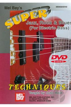 Super Jazz, Rock and Blues Techniques (For Electric Bass) DVD Cover Art