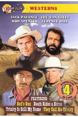 4-Movie Western Double Pack DVD Cover Art