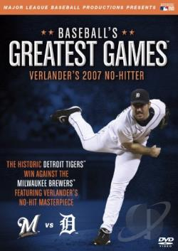 MLB: Baseball's Greatest Games - Verlander's 2007 No-Hitter DVD Cover Art