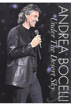 Andrea Bocelli: Under the Desert Sky DVD Cover Art