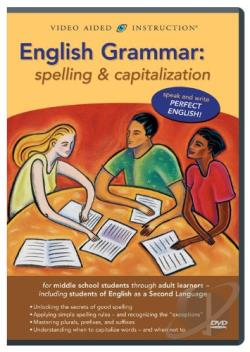 English Grammar - Spelling and Capitalization DVD Cover Art