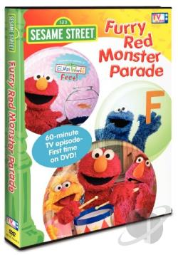 Sesame Street - Furry Red Monster Parade DVD Cover Art