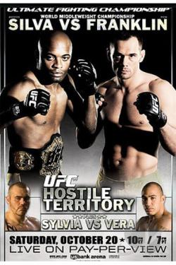Ufc 77 - Hostile Territory: Silva vs. Franklin/ Sylvia vs. Vera DVD Cover Art