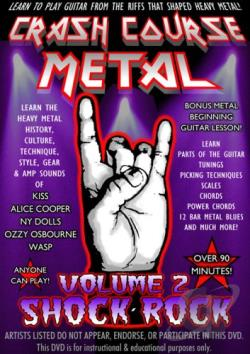 Crash Course Metal - Vol. 2: Shock Rock DVD Cover Art