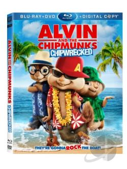 Alvin and the Chipmunks: Chipwrecked BRAY Cover Art