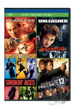 Jet Li's Fearless/Unleashed/Smokin' Aces/Assault on Precinct 13 DVD Cover Art