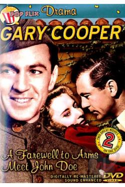 Gary Cooper Double Feature: A Farewell to Arms/Meet John Doe DVD Cover Art