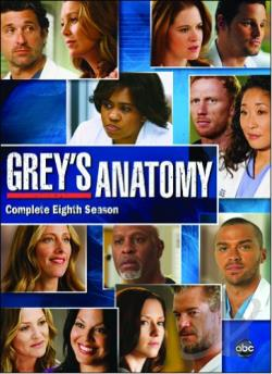 Grey's Anatomy - The Complete Eighth Season DVD Cover Art