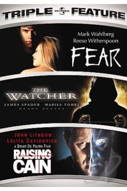Fear/The Watcher/Rasing Cain - Triple Feature DVD Cover Art