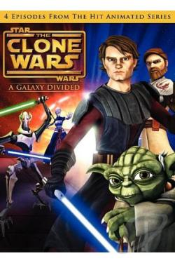 Star Wars: Clone Wars - A Galaxy Divided DVD Cover Art