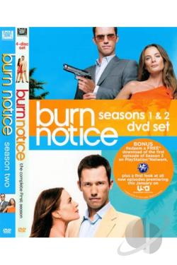 Burn Notice: Season 1 & 2 Set DVD Cover Art