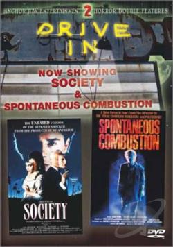 Society/Spontaneous Combustion DVD Cover Art
