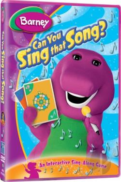 Barney - Can You Sing That Song? DVD Cover Art