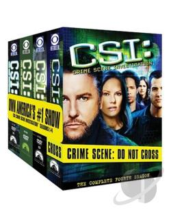 CSI - The Complete Seasons 1-4 DVD Cover Art
