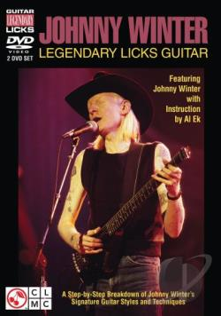 Johnny Winter Legendary Licks Guitar DVD Cover Art