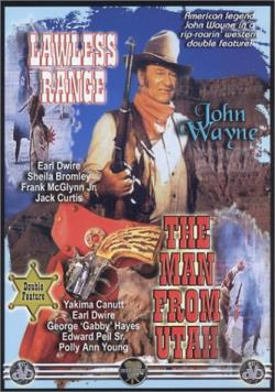 Lawless Range/ Man From Utah - Double Feature DVD Cover Art