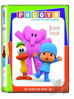 Super Pocoyo/Lets Party/Dance Pocoyo Dance DVD Cover Art