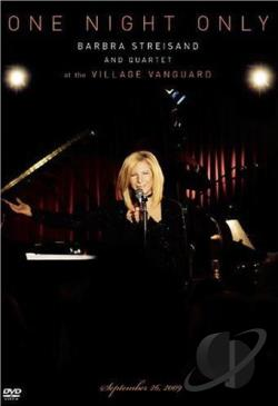 One Night Only: Barbra Streisand and Quartet at the Village Vanguard DVD Cover Art