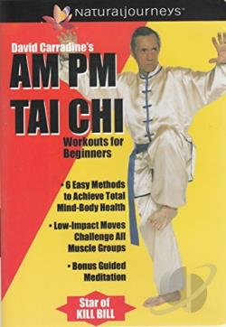 David Carradine's AM & PM Tai Chi Workout for Beginners DVD Cover Art