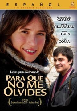 Para Que No Me Olvides DVD Cover Art
