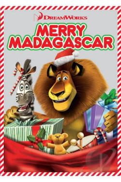 Merry Madagascar DVD Cover Art