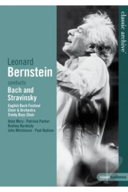 Classic Archive: Leonard Bernstein Conducts Bach and Stravinsky DVD Cover Art