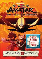 Avatar - The Last Airbender: Book 3 - Fire, Vols. 1 & 2 DVD Cover Art