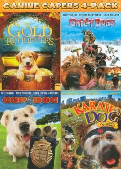 Canine Capers: The Gold Retrievers/Cop Dog/Karate Dog/Chilly Dogs DVD Cover Art