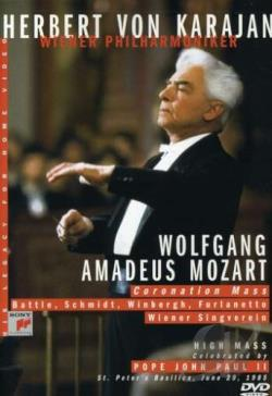 Herbert Von Karajan - Mozart: Coronation Mass DVD Cover Art