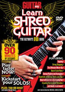 Guitar World: Learn Shred Guitar DVD Cover Art