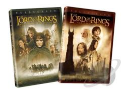 Lord of the Rings: The Fellowship of the Ring/The Two Towers (2-Pack) DVD Cover Art