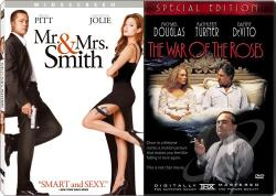 Mr. & Mrs. Smith/The War Of The Roses DVD Cover Art