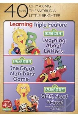 Sesame Street: Learning Triple Feature DVD Cover Art