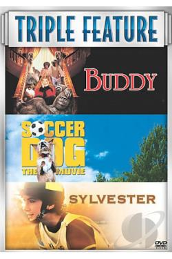 Buddy/Soccer Dog/Sylvester DVD Cover Art