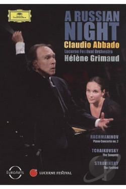 Claudio Abbado: A Russian Night - Rachmaninov/Tchaikovsky/Stravinsky DVD Cover Art