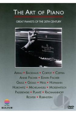 Art of Piano - Great Pianists of the 20th Century DVD Cover Art