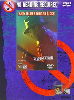 No Reading Required - Easy Blues Guitar Licks DVD Cover Art