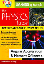 Physics Tutor: Angular Acceleration & Moment of Inertia DVD Cover Art