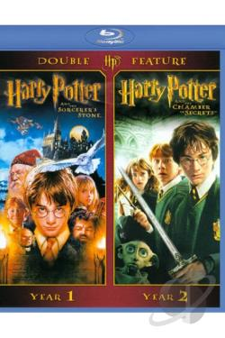 Harry Potter and the Sorcerer's Stone/ Harry Potter and the Chamber of Secrets - 2 Pack BRAY Cover Art