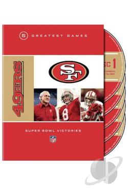 NFL San Francisco 49er - 5 Greatest Games Super Bowl Victories DVD Cover Art