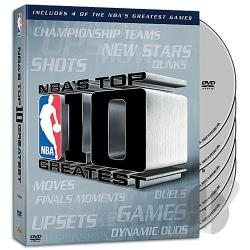NBA Top 10 Greatest Collection DVD Cover Art