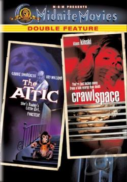 Attic, The/Crawlspace - Midnite Movies Double Feature DVD Cover Art