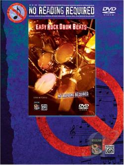 No Reading Required - Easy Rock Drum Beats DVD Cover Art