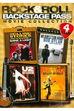 Rock & Roll Backstage Pass 4 Movie Collection DVD Cover Art