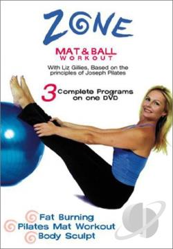 Zone - Pilates Mat and Ball Workout DVD Cover Art