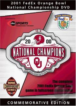 2001 Fedex Orange Bowl National Championship DVD Cover Art
