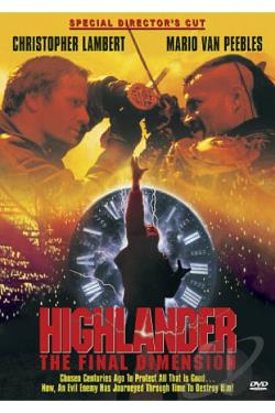 Highlander 3: The Final Dimension DVD Cover Art