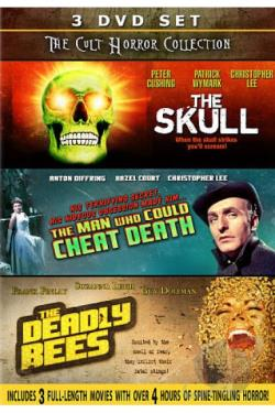 Cult Horror Collection: The Skull/The Man Who Could Cheat Death/The Deadly Bees DVD Cover Art