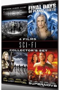 Sci - Fi Collector's Set - 4 Films: The Black Hole / Final Days Of Planet Earth / The Last Sentinel / Supernova DVD Cover Art