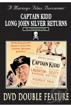 Pirates Double Feature: Long John Silver/ Captain Kidd DVD Cover Art